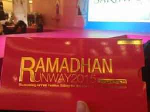 Ramadhan Runway Invitations 2015